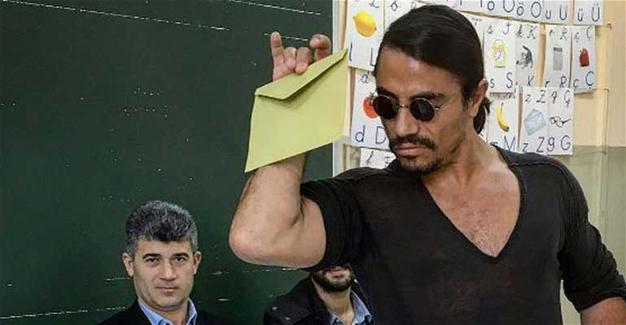 Who cast this vote, Salt Bae or Nusret Gökçe, the man behind the meme?
