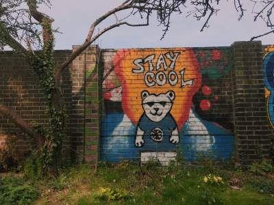 Image may contain: Person, Human, Mural, Painting, Art, Wall