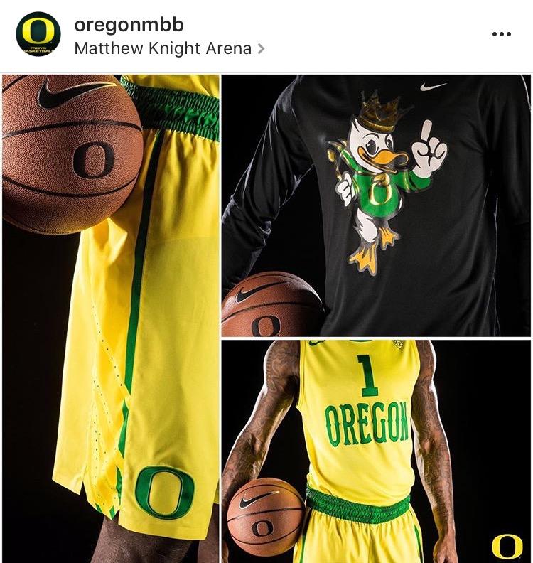 the latest 68bd7 49e8e A tribute to Oregon basketball's best uniforms this season