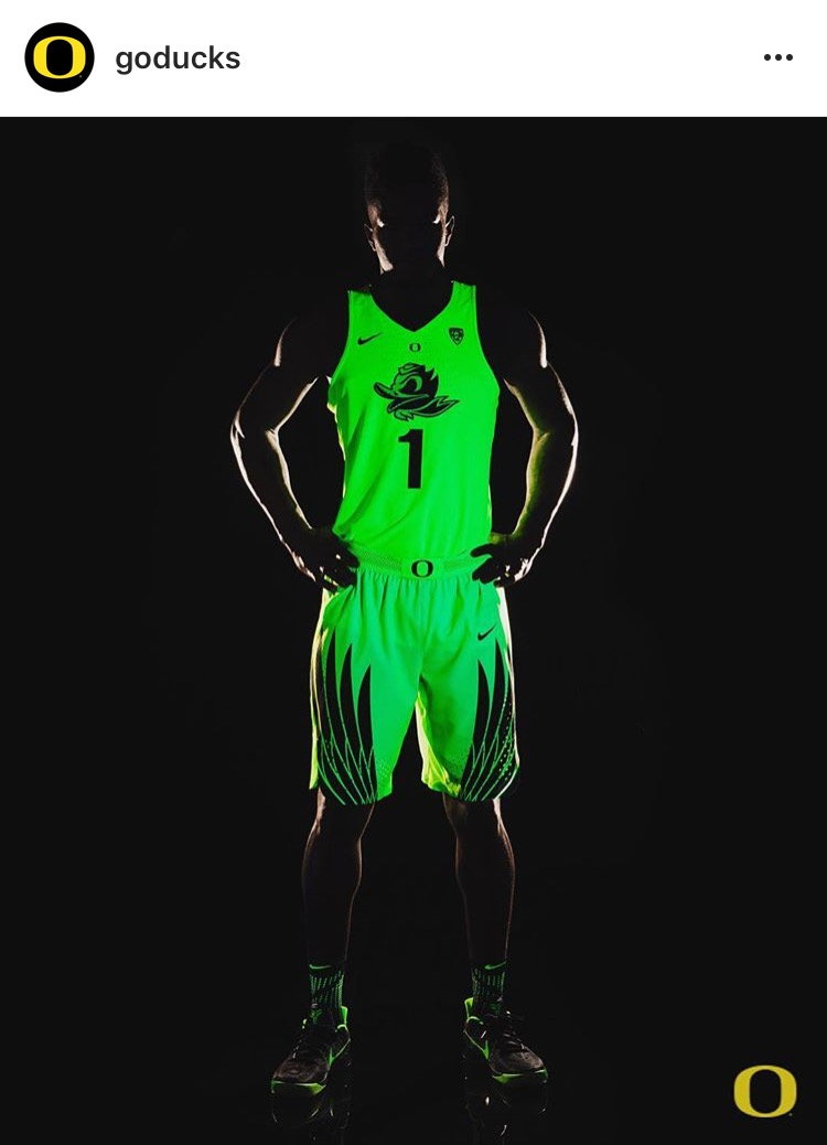 A tribute to Oregon basketball's best uniforms this season