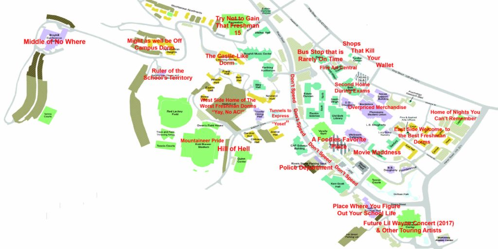 An Honest Map Of App State Because We All Know Boone Better Than: Map Of App State At Codeve.org