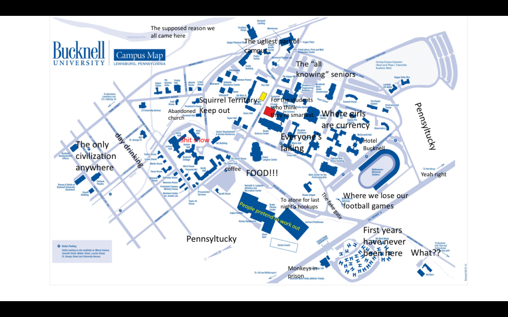 A Judgmental Map Of Bucknell University