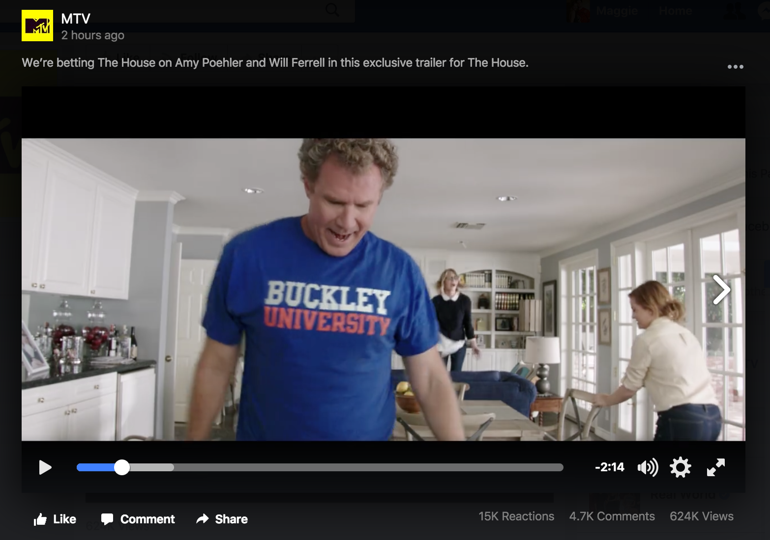 Will Ferrell and Amy Poehler's new movie has totally ripped off Bucknell's logo