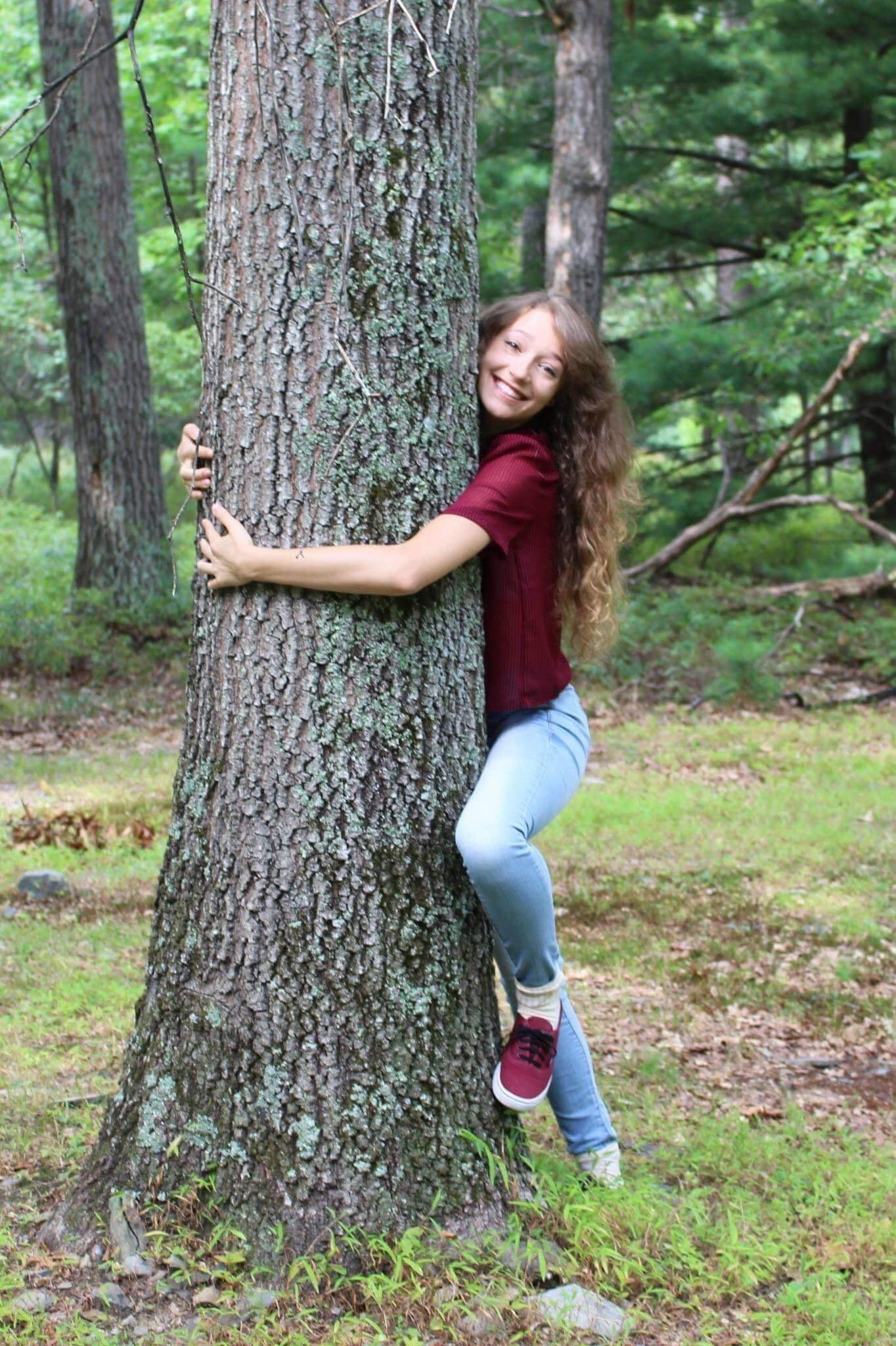 Ashley the tree hugger