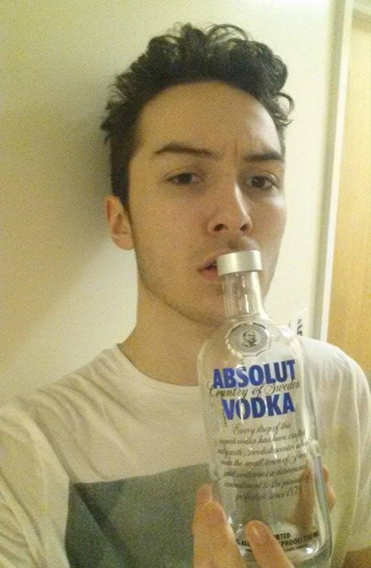 The concentration of vodka in my system had given me a lazy eye.