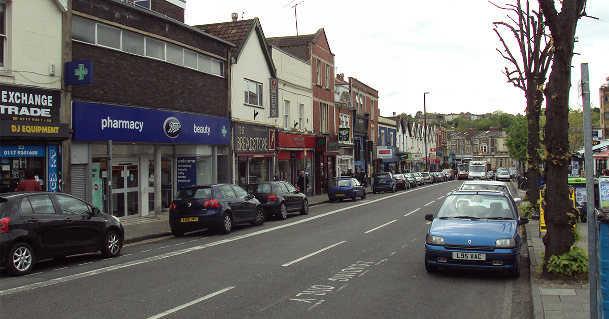 Gloucester Road in Bristol, where the car was parked