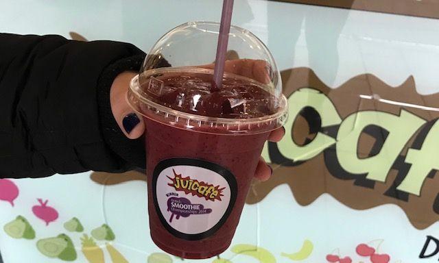 Image may contain: Smoothie, Milkshake, Milk, Beverage, Juice, Drink