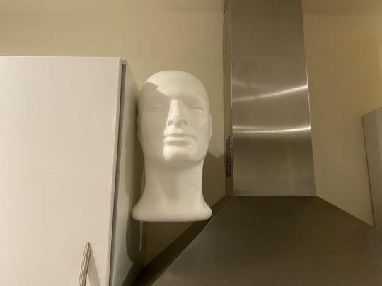 styrofoam head