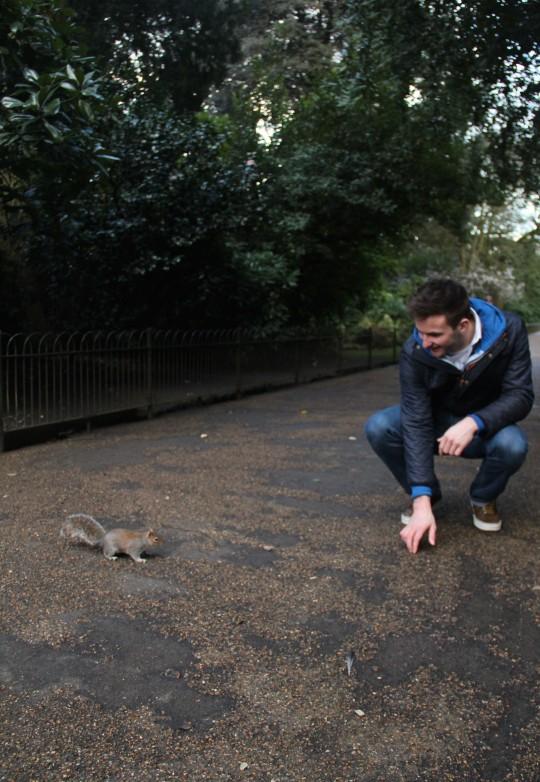 Tom at one with nature - (Credit: Yasmin Malik)