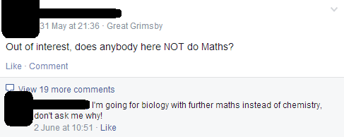 A levels: prime conversation point for the first week of term and never, ever again