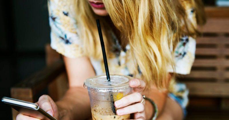 Image may contain: Milkshake, Woman, Person, Female, Blonde, Drink, Beverage