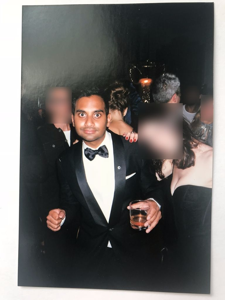 i went on a date aziz ansari it turned into the worst night  one of two photos grace took of ansari at the emmys after party photo net