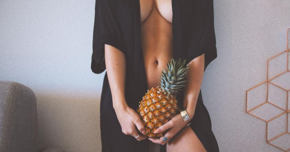 Pity, Nude women with fruit in vagina the same
