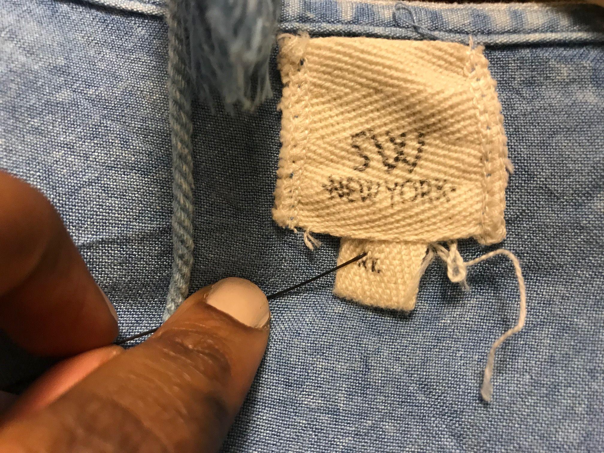 Image may contain: Knitting