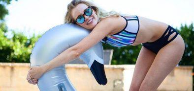 Image may contain: Swimwear, Clothing, Bikini, Person, People, Human