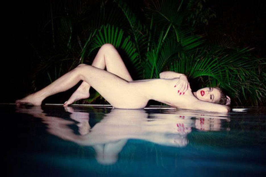 Image may contain: Swimwear, Clothing, Bikini, Water, Pool