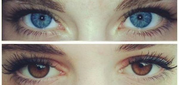 Image may contain: Mascara, Cosmetics, Contact Lens