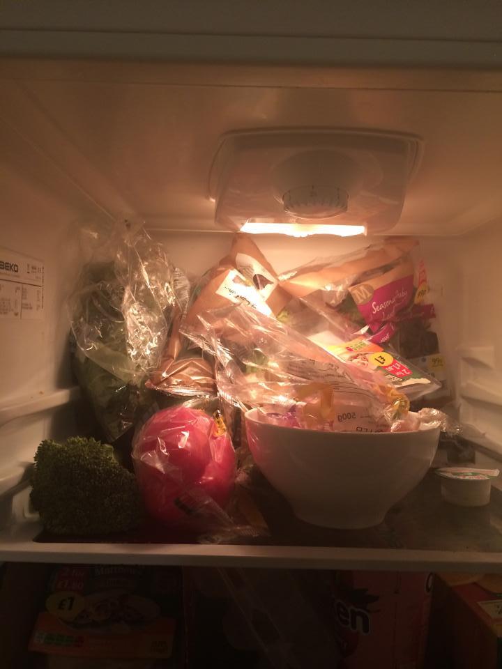 A vegan fridge