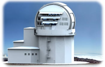 An artist's impression of the telescope in all its glory