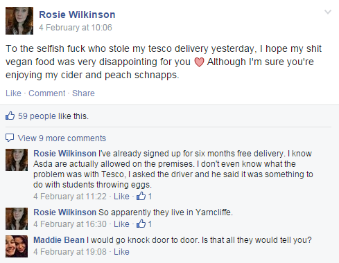 Rosie's post to the 'University of Sheffield Firmers 2014' page