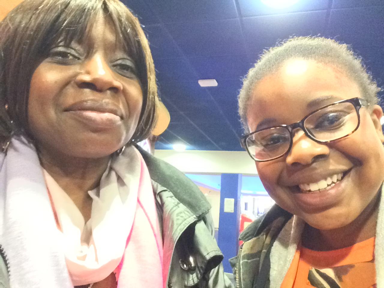Me and mum at the cinema