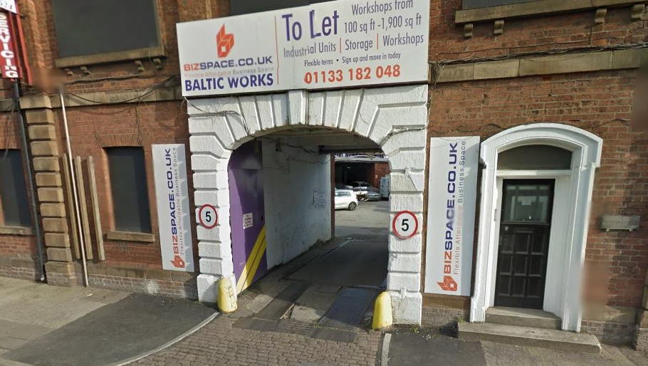 The car was stolen from outside Baltic Works