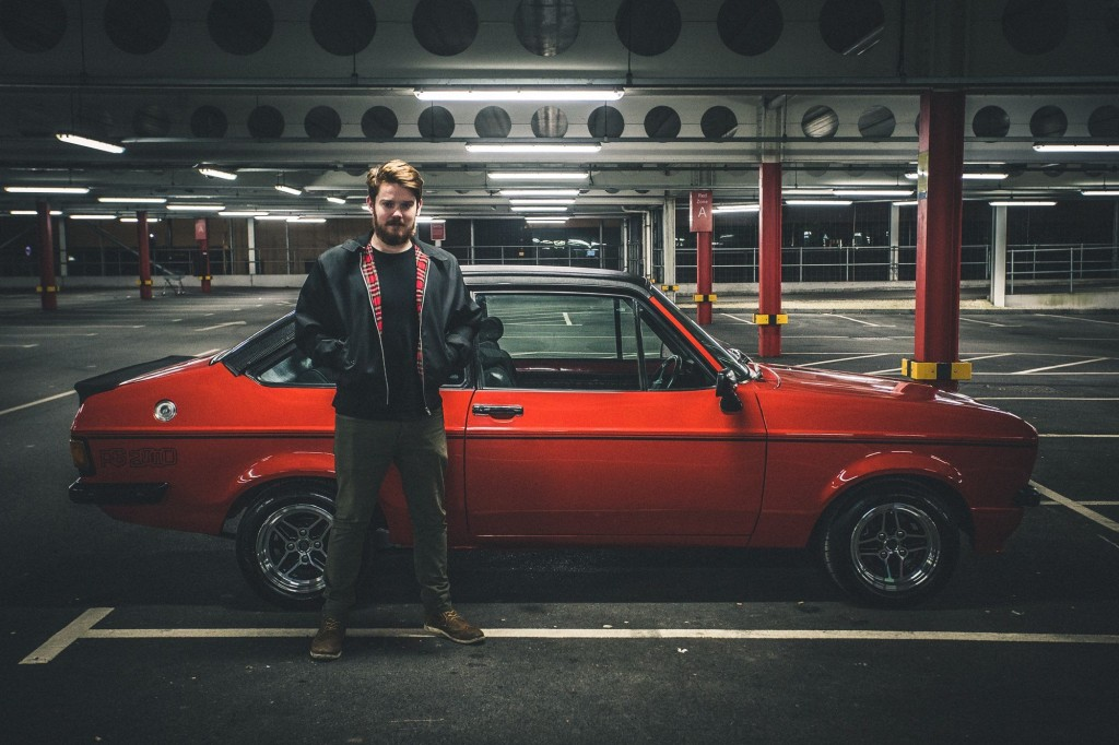 Mike with the car