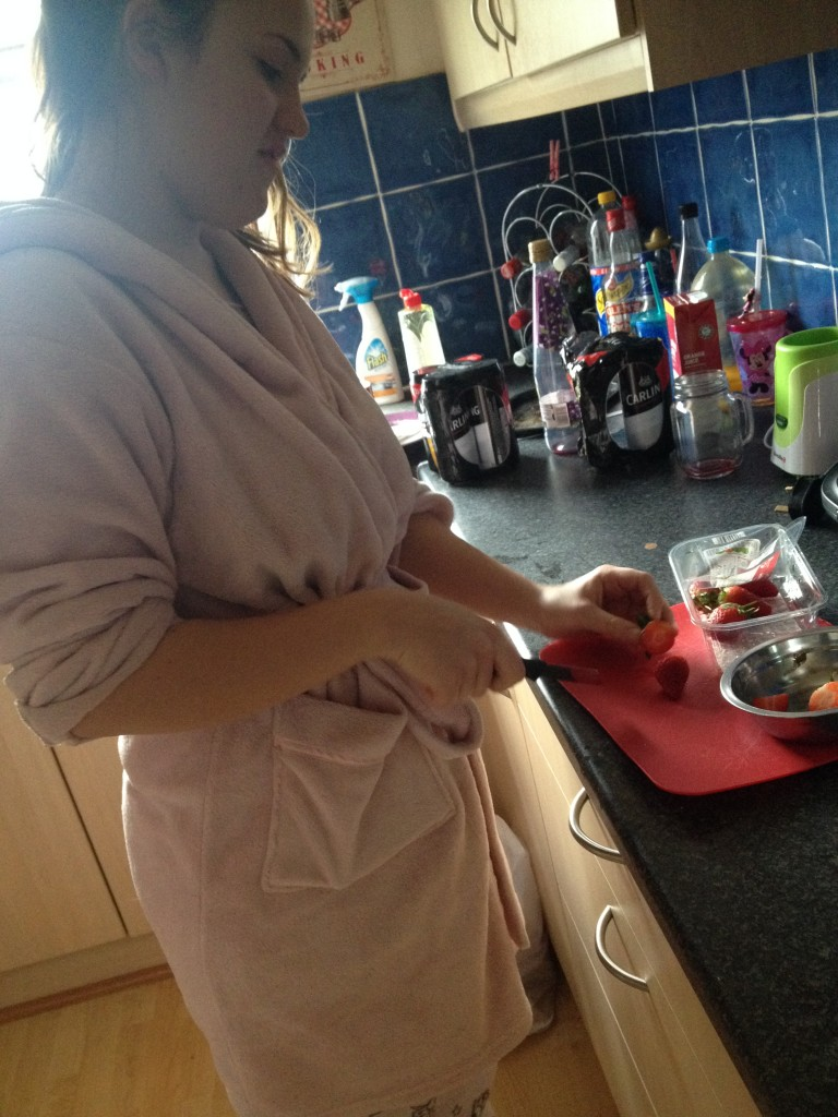 Kate eats a lot healthier than the students in this house