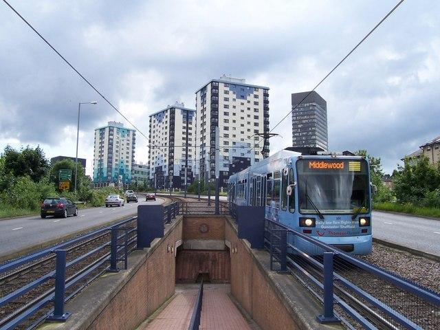 The mugging happened close to Netherthorpe tram stop