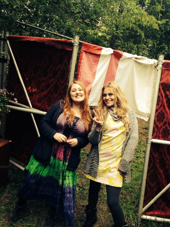 Some groovy types chilling at the tea tent,