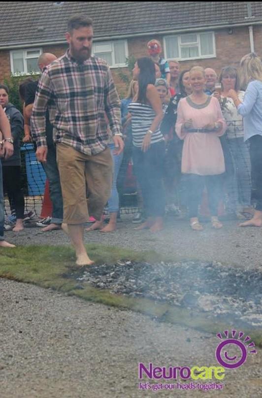 Walking over hot coals