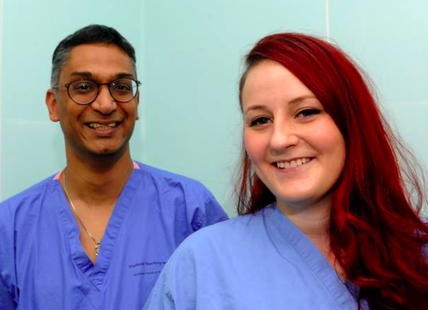 Georgina and her surgeon