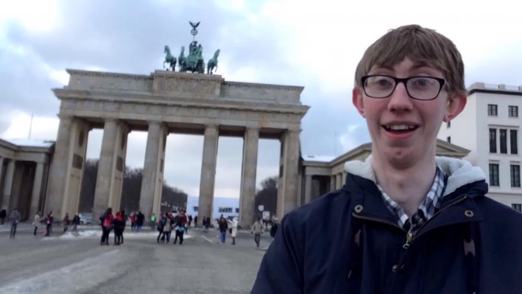Jordon Cox at the Brandenburg Gate