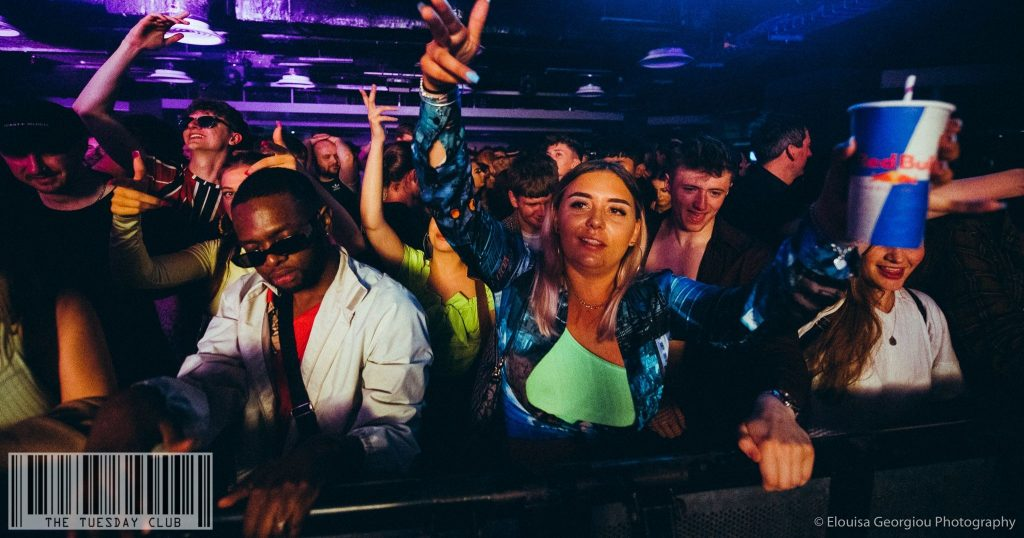 Image may contain: Disco, Night Life, Party, Night Club, Accessory, Sunglasses, Accessories, Club, Human, Person