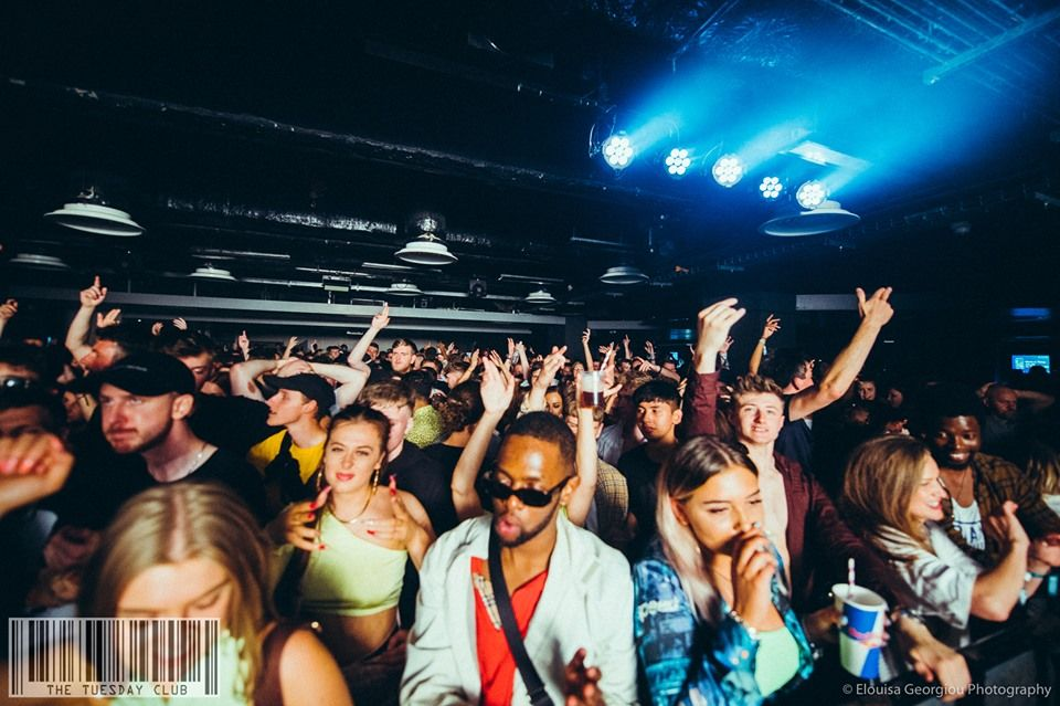 Image may contain: Face, Lighting, Night Club, Audience, Club, Crowd, Night Life, Accessory, Sunglasses, Accessories, Party, Human, Person