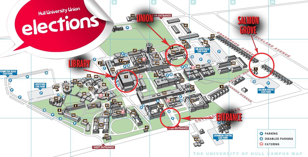 Hull University Map map Archives   University of Hull