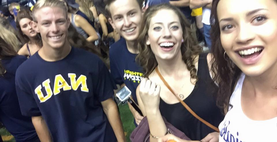 Alice with her friends at NAU.