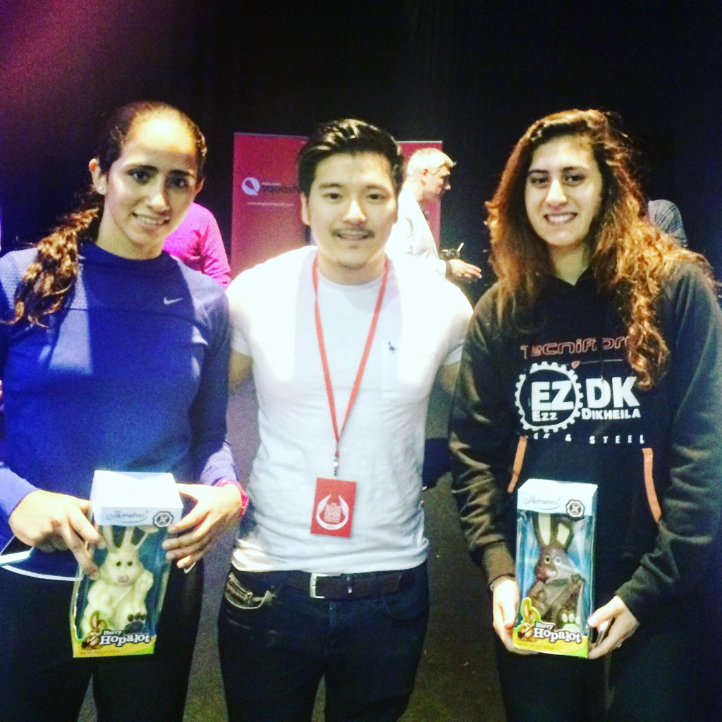 Meeting the two Egyptian Finalists of the Women's Squash Final