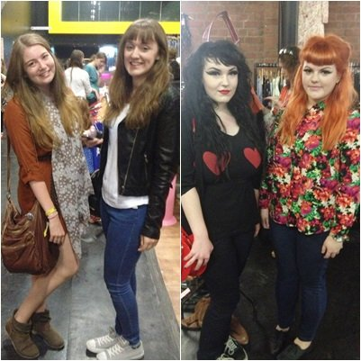 Two pairs of friends from the vintage fair