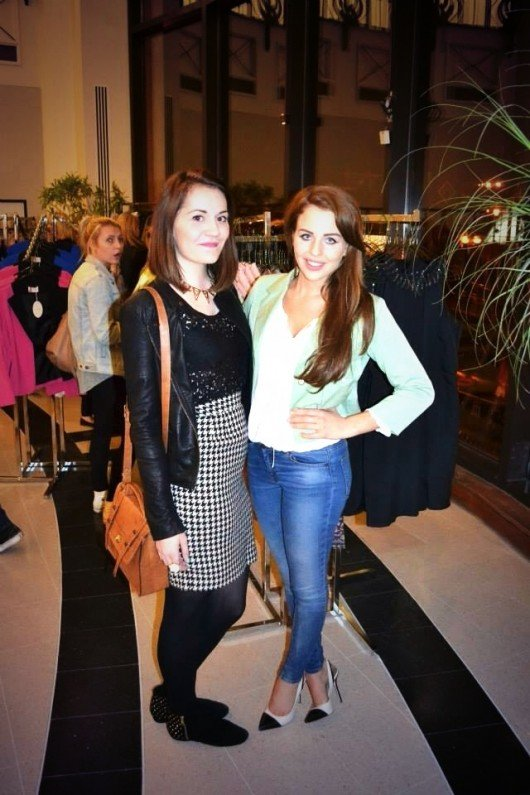 Fashion editor, Alex, with Lydia at her pop-up store