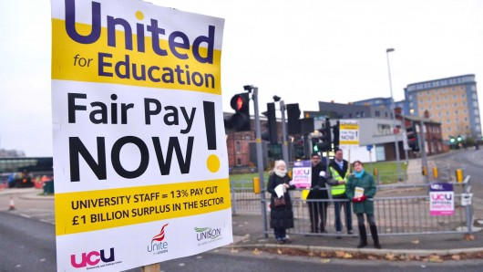 So threatening, the university has been scared into not giving them a pay rise.