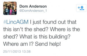 Screenshot: Dom Anderson's Shed tweet