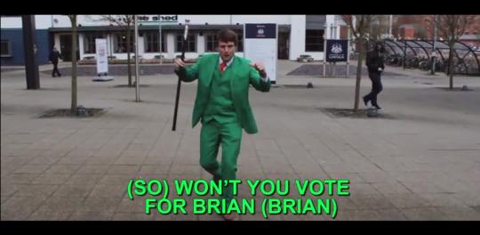 He certainly got Scott Mills' vote!