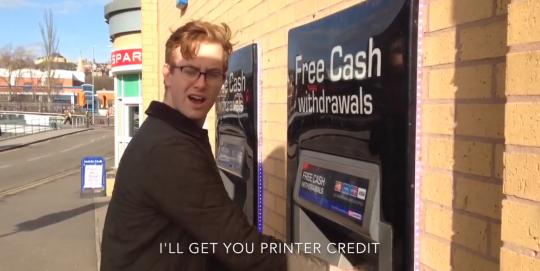 Screenshot: Marcus at cash machine