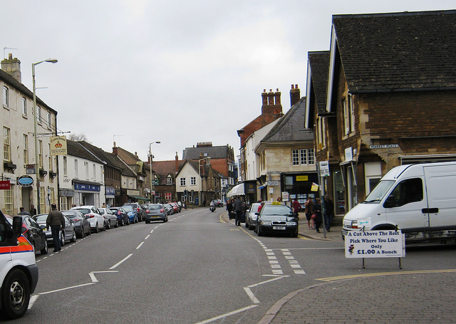 The centre of Grantham