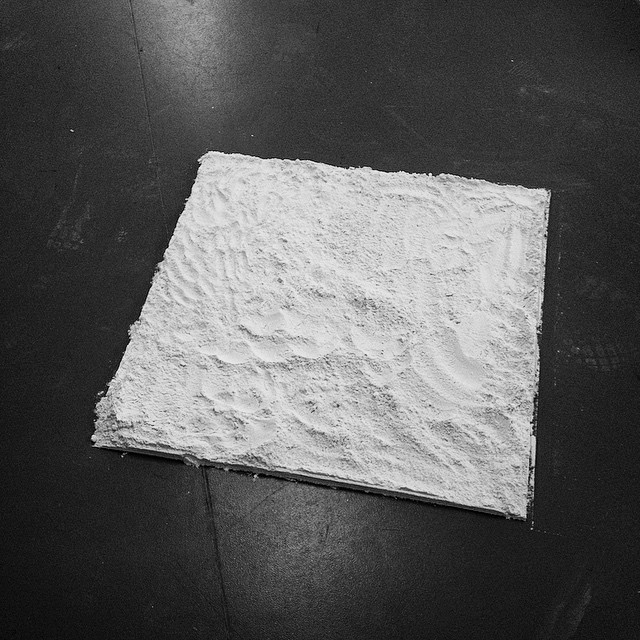 The actual flour square in question.