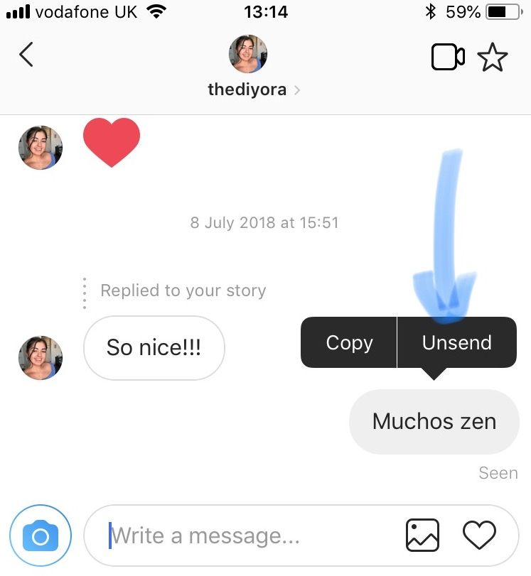 how to delete chat history in instagram