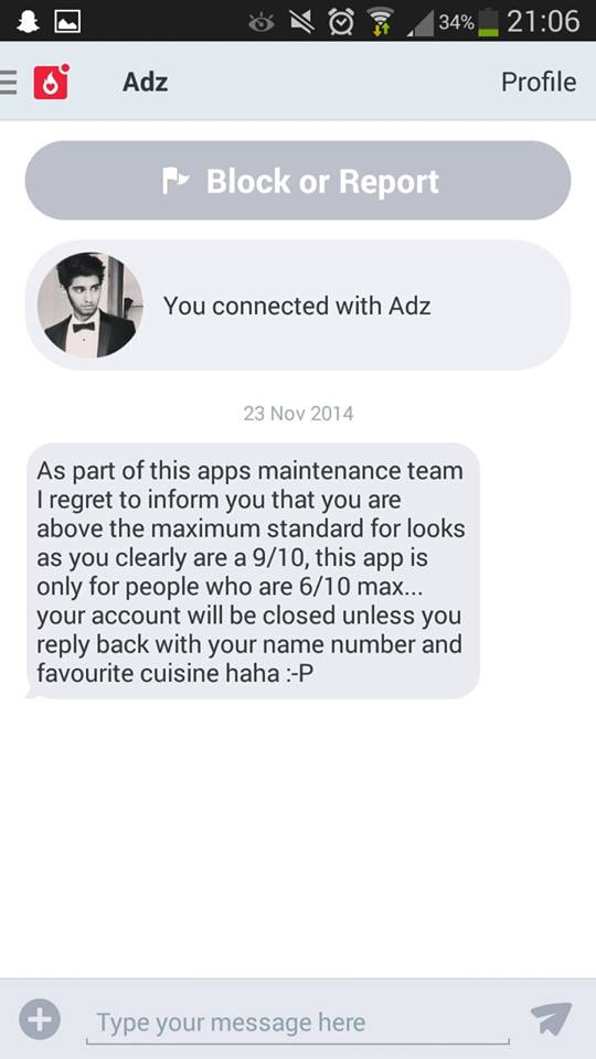 how do you chat on hot or not app