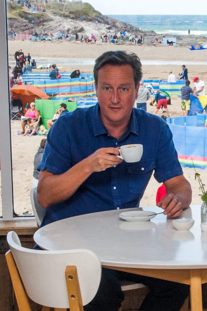 Scalding hot cup of justice: Old Etonian Dave has set aside a quarter of a million pounds to wreck these fools