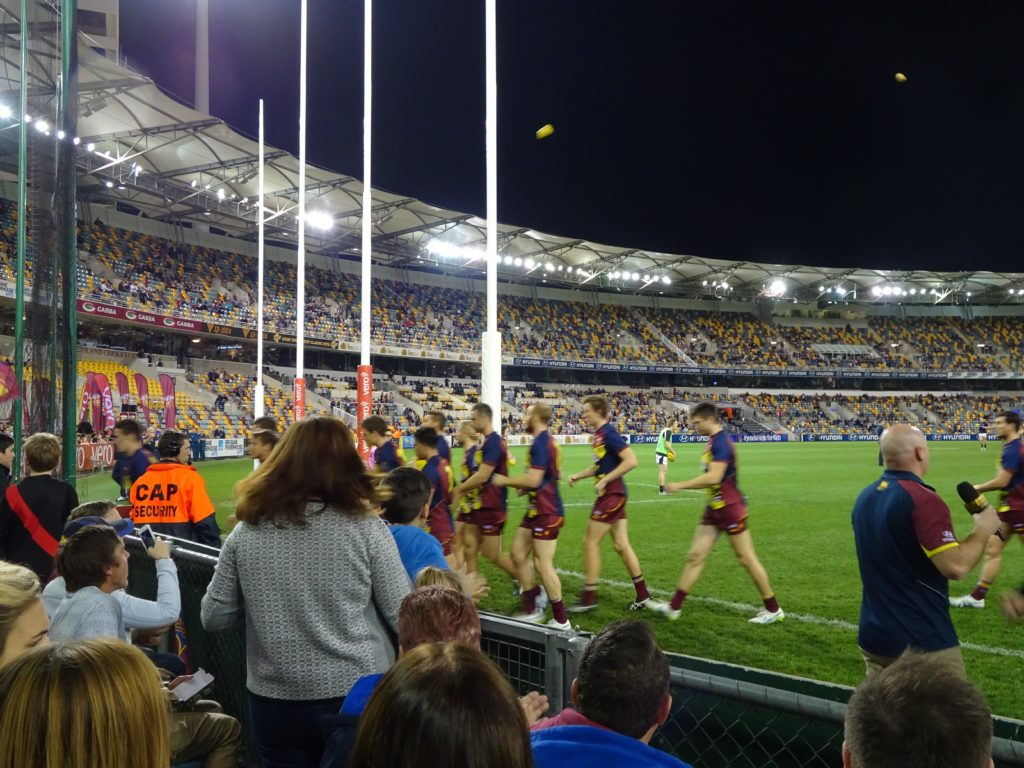AFL, or Australian football is a big deal in Australia. Also really, really fun to watch